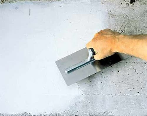 Шпаклевание по бетону