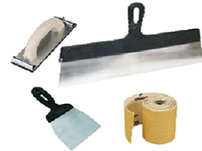 Инструменты, необходимые для шпатлевки