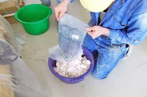 Приготовление смеси