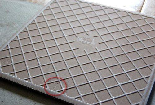 Метка на плитке