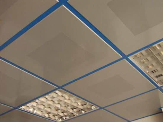 Потолок Армстронг из алюминия