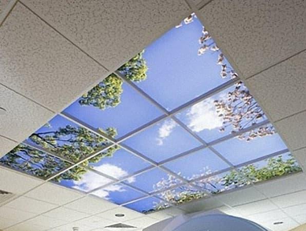 Потолок Армстронг с фотопечатью