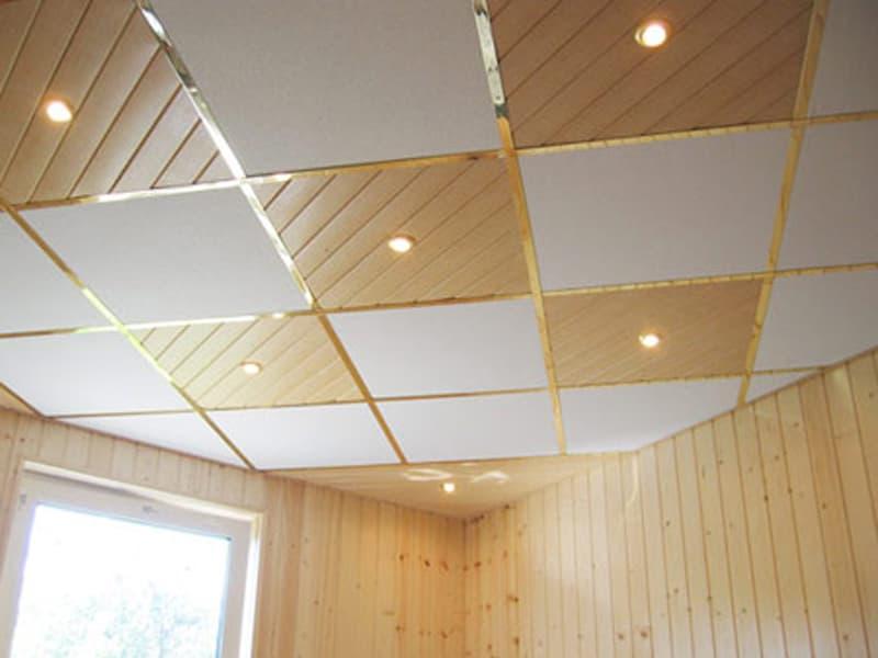 Потолок Армстронг из ламинированной фанеры
