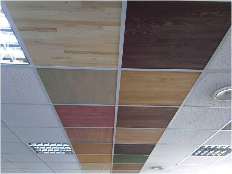 Потолок Армстронг из натуральной древесины