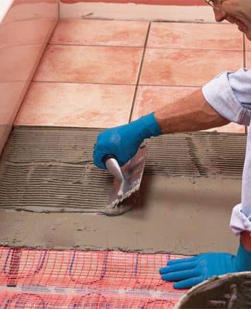 Укладка напольной плитки поверх электрического теплого пола