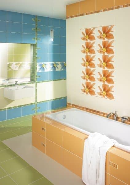 Разноцветная керамическая плитка