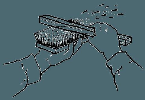 Нанесение набрызгом мелкозернистой структуры