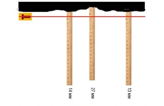 Определение максимальной толщины штукатурки
