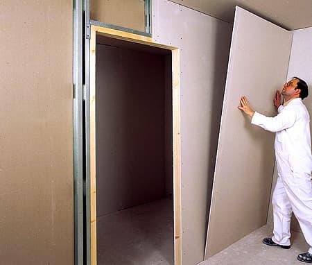 Перегородка с дверью