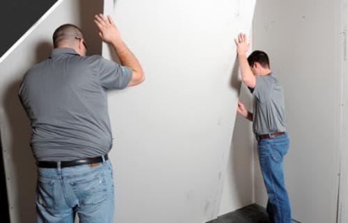 Выравнивание стен ГКЛ без каркаса