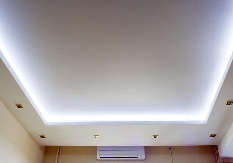 Короб для натяжного потолка с подсветкой