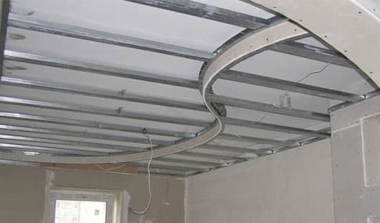 Cоздание каркаса подвесного потолка из гипсокартона