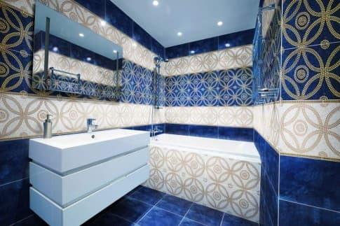 Декоративная плитка в интерьере ванной