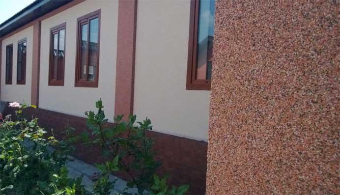 Мрам. штукатурка фасадов дома