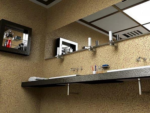 Штукатурка «короед» в ванной